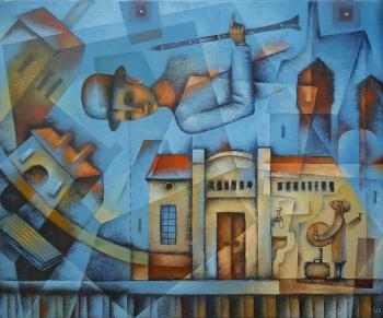 The Space of Train Station (Cubism). Ivanov Evgeniy