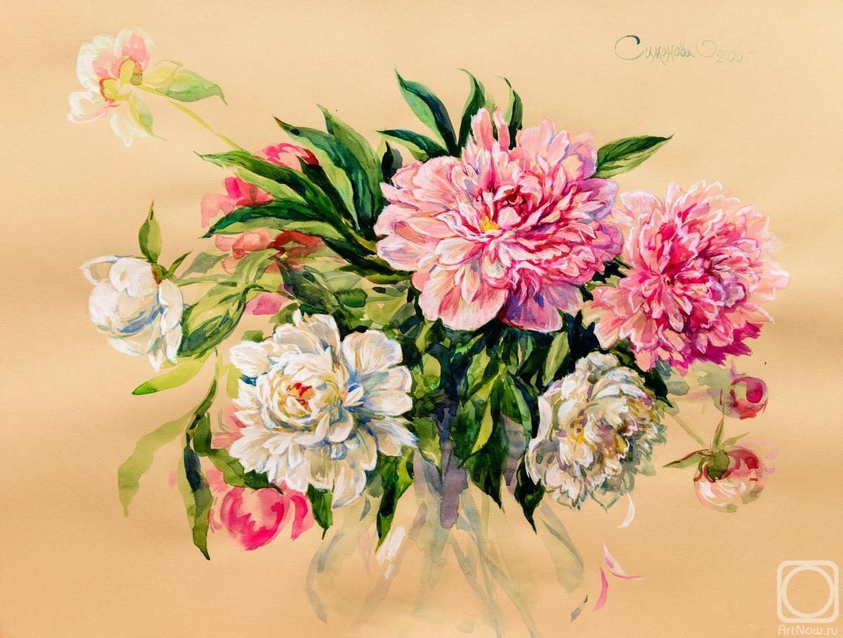 Simonova Olga. Bouquet of peonies