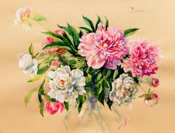 Bouquet of peonies. Simonova Olga