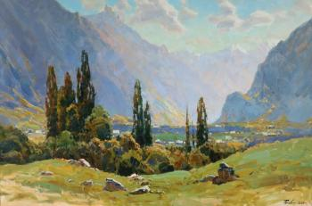 In Teberdinsky gorge (In The Mountains Of The Caucasus). Babich Aleksandr