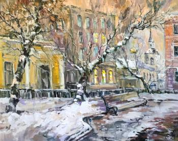 Winter evening at the Christmas Boulevard. Charina Anna