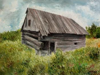 Portrait of an old barn. Volosov Vladmir