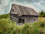Volosov Vladmir. Portrait of an old barn