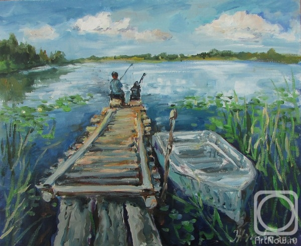 Zhukova Elena. Summer fishing