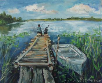 Summer fishing. Zhukova Elena