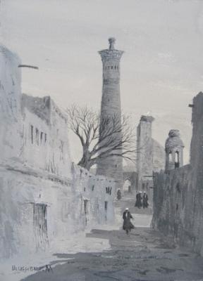 Street views of the Kalyan minaret. Mukhamedov Ulugbek
