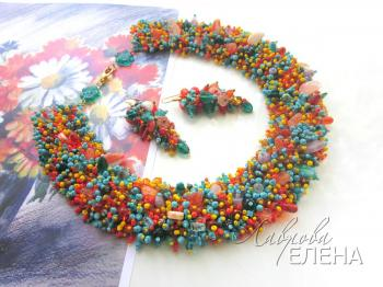 "Jewelry set ""Summer meadow"". Lavrova Elena"