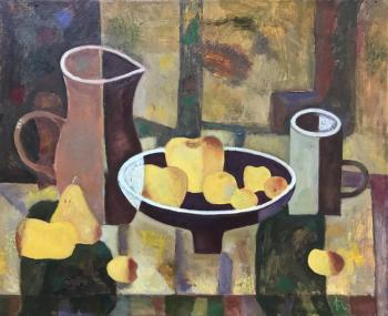 Homemade Wine and Yellow Fruits. Bykov Sergey