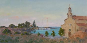 Cyprus harbor, twilight