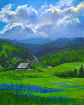Blue (Painting As A Gift). Ripa Elena