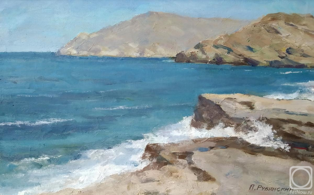 Rubinsky Pavel. Surf on the island of Paros, Greece
