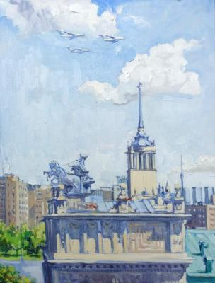 Peaceful sky over Moscow. Koks Aleksandra