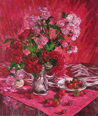 Roses and strawberries. Sedyh Olga
