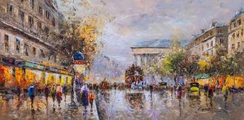 The landscape of Paris Antoine Blanchard. Boulevard de La Madeleine. Vevers Christina