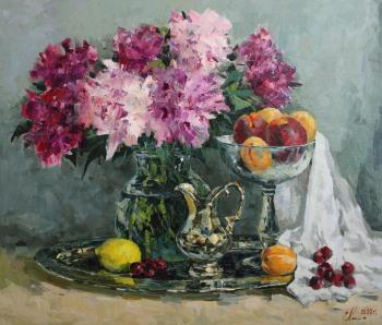 Peonies and fruits. Malykh Evgeny