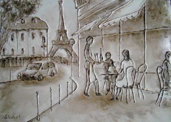 Sit in a café (Lovers). Stydenikin Yury