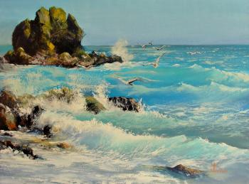 Not quite the black sea (Calm Painting). Lednev Alexsander