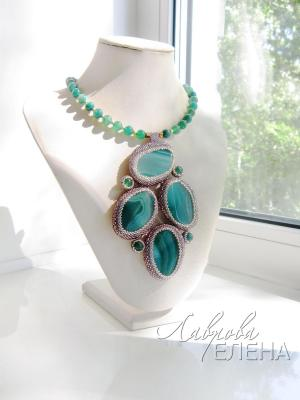 "Necklace ""Forest lake"". Lavrova Elena"