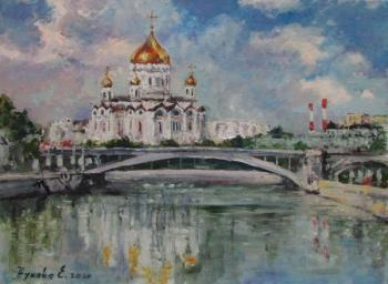 Moscow. The Cathedral Of Christ The Savior. Zhukova Elena Yurievna