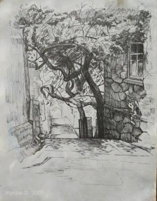 The courtyard in the Crimea. Zhukoff Fedor