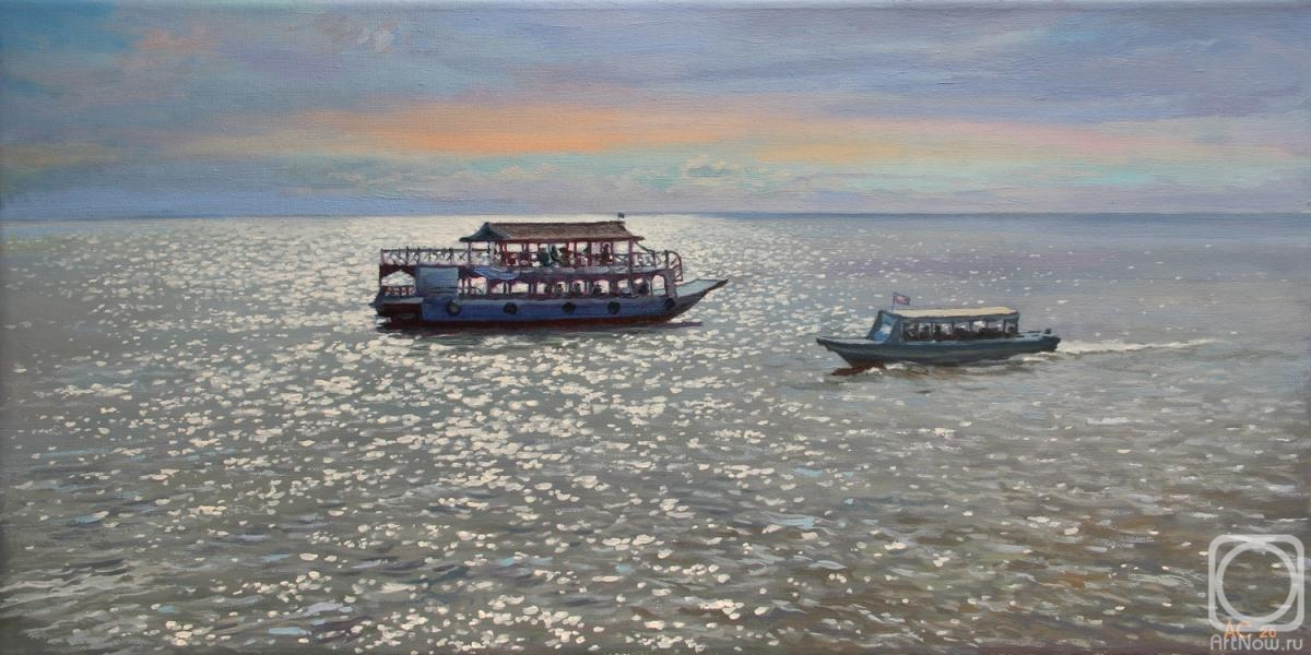 Samokhvalov Alexander. On Lake Tonle Sap