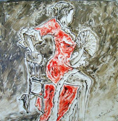 The passion of flamenco 1 (left part of triptych). Stydenikin Yury