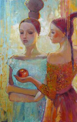Girls with Apple. Rikun Olga