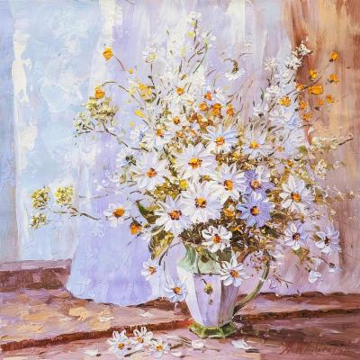 Bouquet with chamomile and buttercups. Vlodarchik Andjei