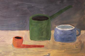 Still life with a pipe. Jelnov Nikolay