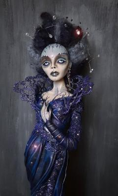 Art doll OOAK art doll Dark lady (Sculpture). Khotian Ivanna