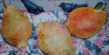 Cloudy day and pears. Veranes Tatiana