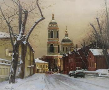 Walking along the snow-covered streets ... Taganka (City Landscape Oil Painting). Kamskij Savelij