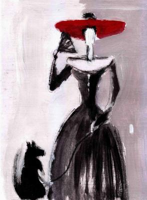 The lady with the dog. Shpak Vycheslav