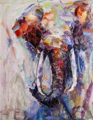 Theory of Elephants N3 (Modern Impressionism). Rodries Jose