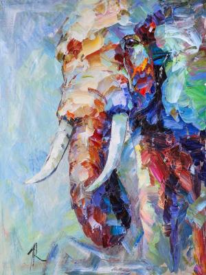 Theory of Elephants N2 (Modern Impressionism). Rodries Jose