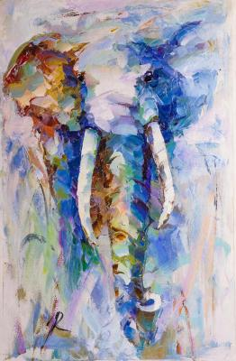 Theory of Elephants (Modern Impressionism). Rodries Jose