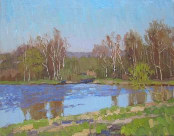A Sunny may morning on the Yauza river (etude). Chertov Sergey