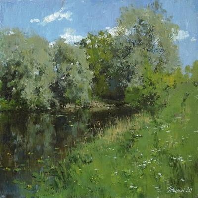 Summer day on the banks of Tesha. Zhilov Andrey
