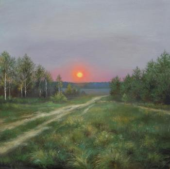 The evening sunset. Voevudskaya Daria