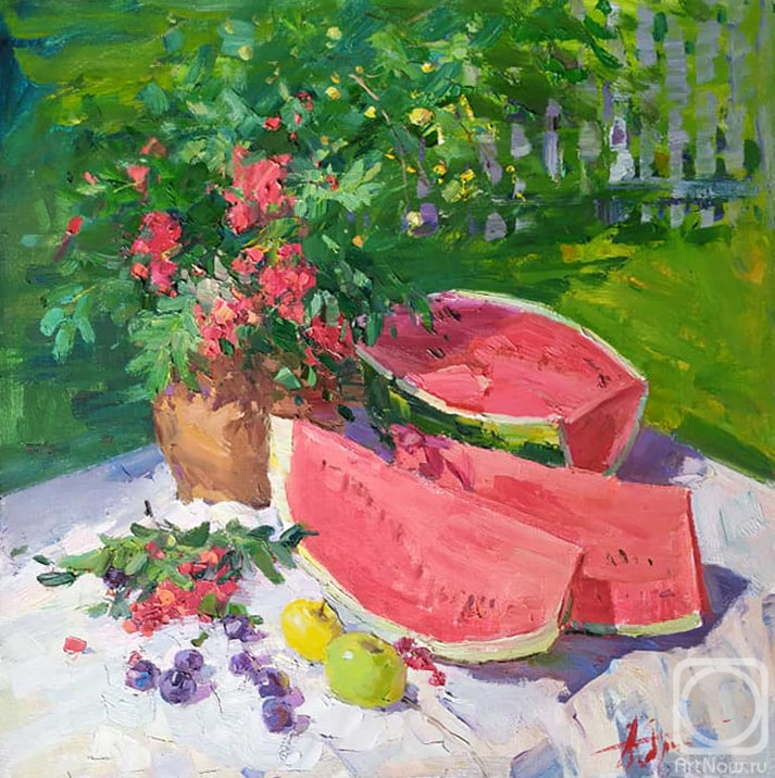 Yurgin Alexander. Still life with watermelon