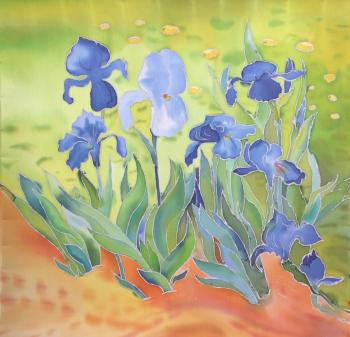 Irises. Based on van Gogh. Tsebenko Natalia