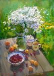 Yurgin Alexander. Still life with daisies