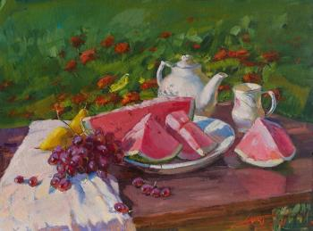 Still life with watermelon (Plate With Watermelon). Yurgin Alexander