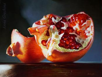 Pomegranate and evening sun
