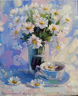 Chamomile tea at dawn. Gerasimova Natalia