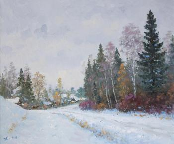 Maryino, the road to the farm. Alexandrovsky Alexander