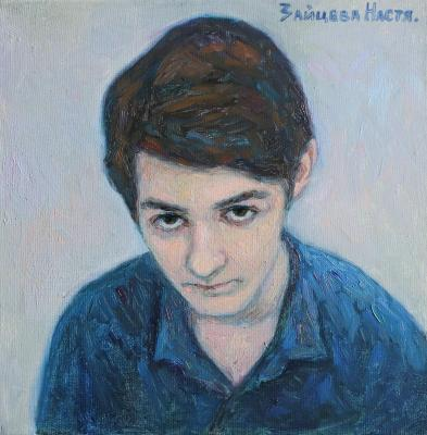 Boy with brown eyes. Zaitseva Anastasia
