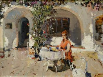 Spain. Courtyard, April. Lukash Anatoliy