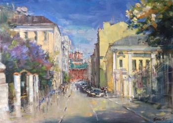 Spring in Petrovsky lane (Lilac In Painting). Poluyan Yelena