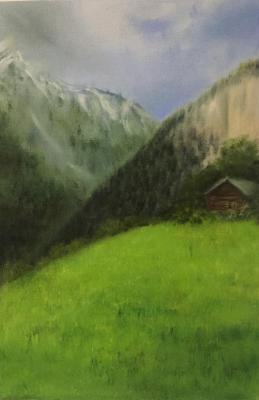 House in the mountains. Fomina Lyudmila